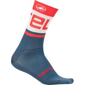Castelli Free Kit 13 Socks light steel blue/red